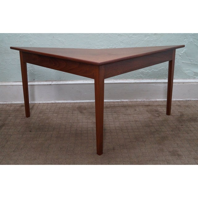 Store Item #: 8835 Mid Century Modern studio made triangle boomerang low table. Approx 30 years, America. High quality,...