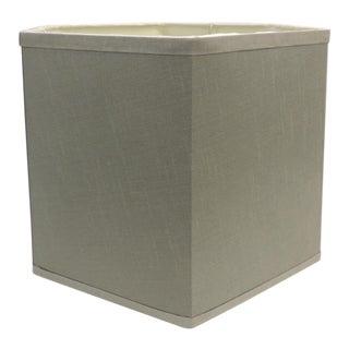 Hexagon Grey Silk Lamp Shade For Sale