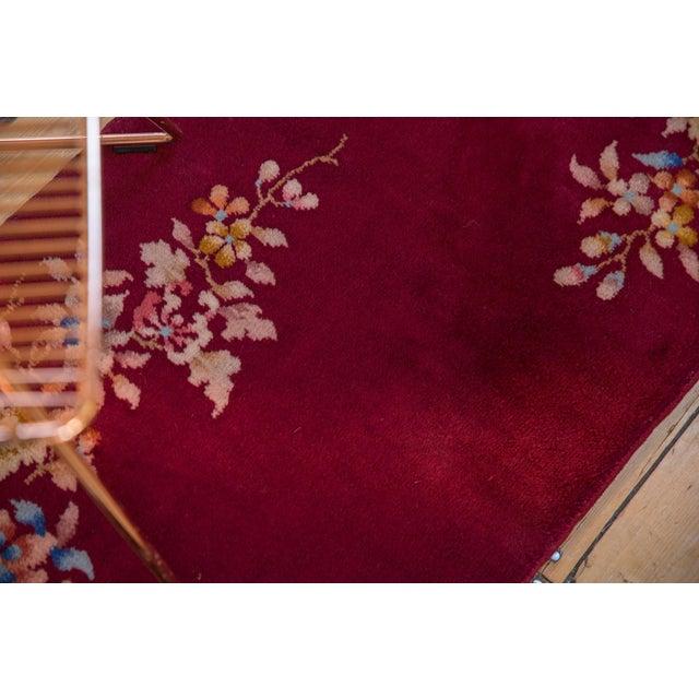 """Red Vintage Nichols Art Deco Rug Runner - 2' X 3'9"""" For Sale - Image 8 of 10"""