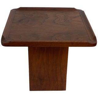 Brown Saltman Small Walnut Veneer Table For Sale