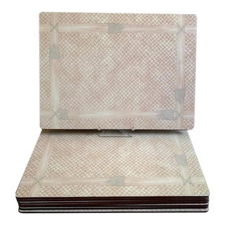 Set/8 Nina Campbell Lady Clare Bamboo Placemats For Sale