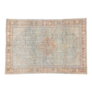 Antique Persian Mahal Rug - 4'2 X 6'2 For Sale