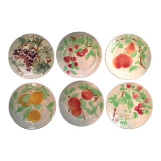St. Clement French Faience Fruit Plates