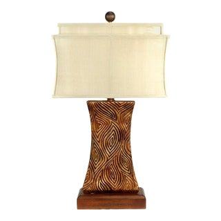 Tribal Resin Lamp Designed by Joanne Hollingsworth For Sale