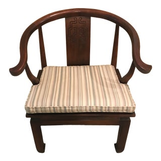 Vintage Mid Century Wood James Mont Style Ming Chair For Sale