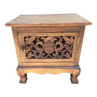 Asian Hand Carved Wooden Cabinet