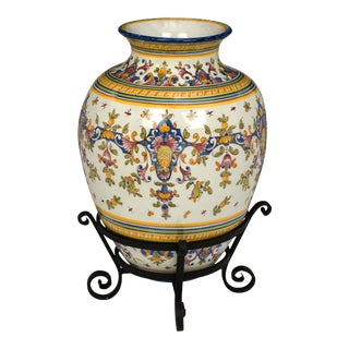"Urn Vessel, Large 29"" Tall Portuguese For Sale"