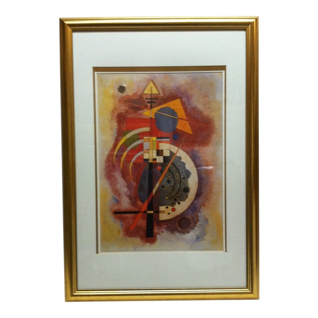 """Original """"Abstract Geometric Figures"""" Framed & Matted Print by Wassily Kandinsky For Sale"""