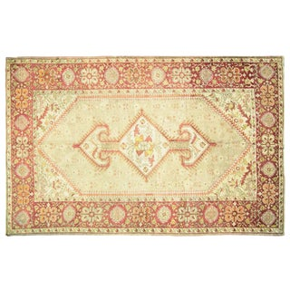 "1920s Antique Anatolian Oushak - 8'3"" X 12'7"" For Sale"