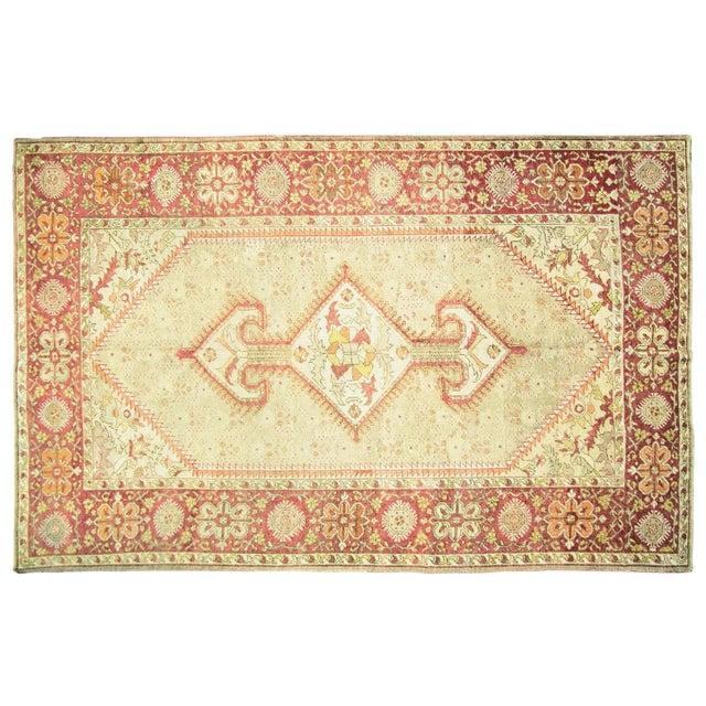 "1920s Turkish Oushak Carpet - 8'3"" X 12'7"" For Sale"