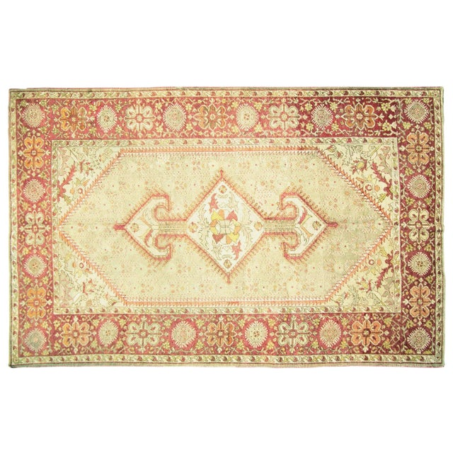 "Nalbandian - 1920s Turkish Oushak Carpet - 8'3"" X 12'7"" For Sale"