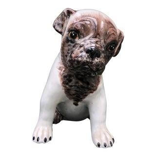 Mid-Century Italian Ceramic Dog Statue For Sale