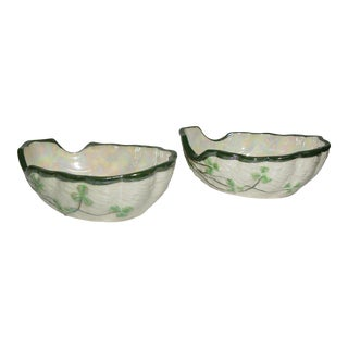 Vintage Maruhon Ware Hand Painted Porcelain Bowls - a Pair For Sale