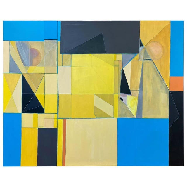 """Robert English """"Etheric Double"""", Large Abstract Cubist Painting, 1994-1995 For Sale - Image 13 of 13"""