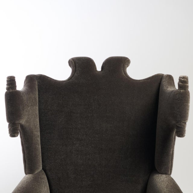 Wood Arturo Pani Wingback Chairs For Sale - Image 7 of 13