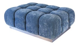 Image of Blue Chair and Ottoman Sets