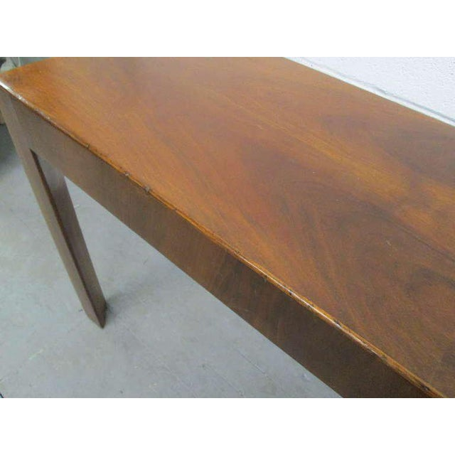 Italian Walnut Console Table For Sale - Image 4 of 5