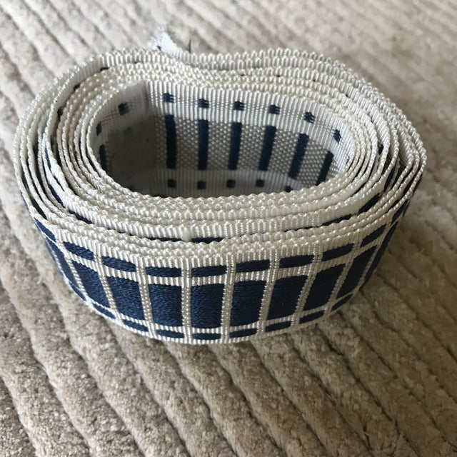 Crisp and chic decorative trim from Schumacher. 3+ yards. Made in the 2010s.