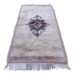 Vintage Tribal Nomadic Tulu Turkish Style Rug 3′3″ × 5′9″ For Sale