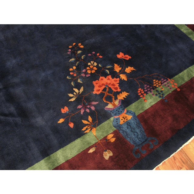 1920s Antique Chinese Art-Deco Rug For Sale - Image 5 of 6