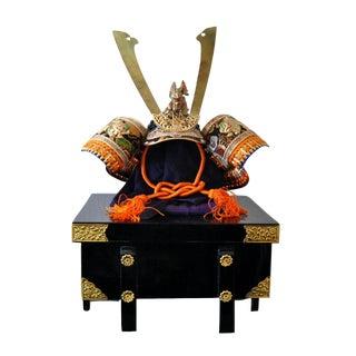 Vintage Japanese Genji Samurai Small Kabuto Helmet Room Display For Sale