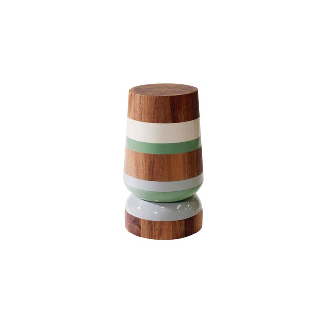 Capirucho Lacquered Bands Drink Table For Sale