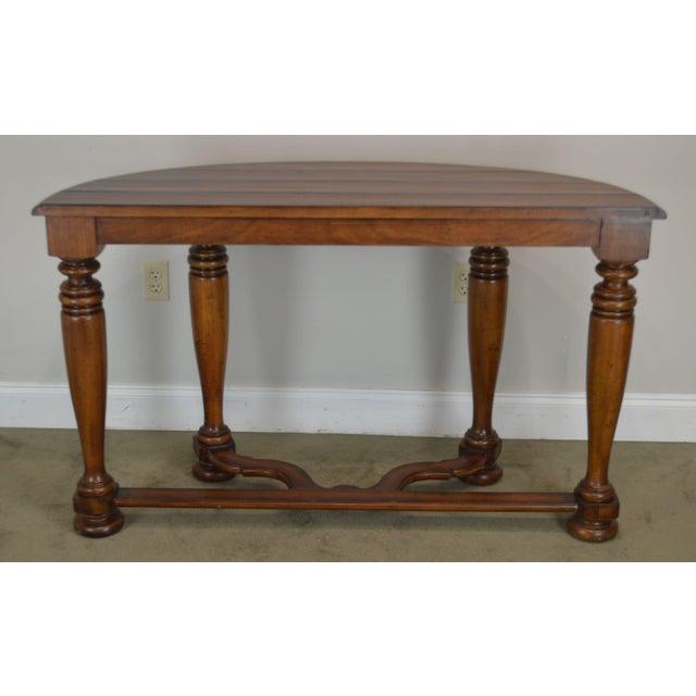 Wondrous Jacobean Style Rustic Demilune 54 Console Table A Ibusinesslaw Wood Chair Design Ideas Ibusinesslaworg