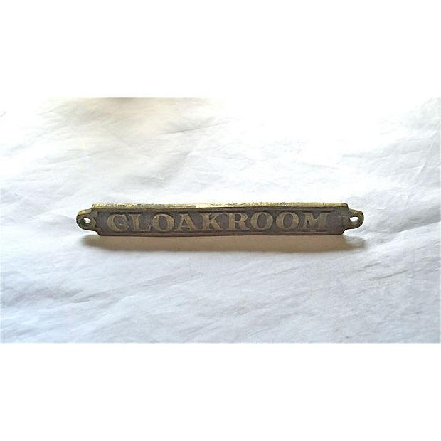 British 'Cloakroom' Brass Plaque - Image 6 of 10