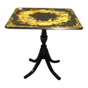 Antique Art Nouveau Tilt Top Table For Sale