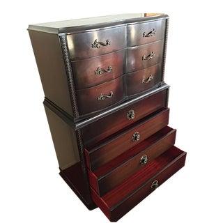 1950's Mahogany Highboy Dresser For Sale