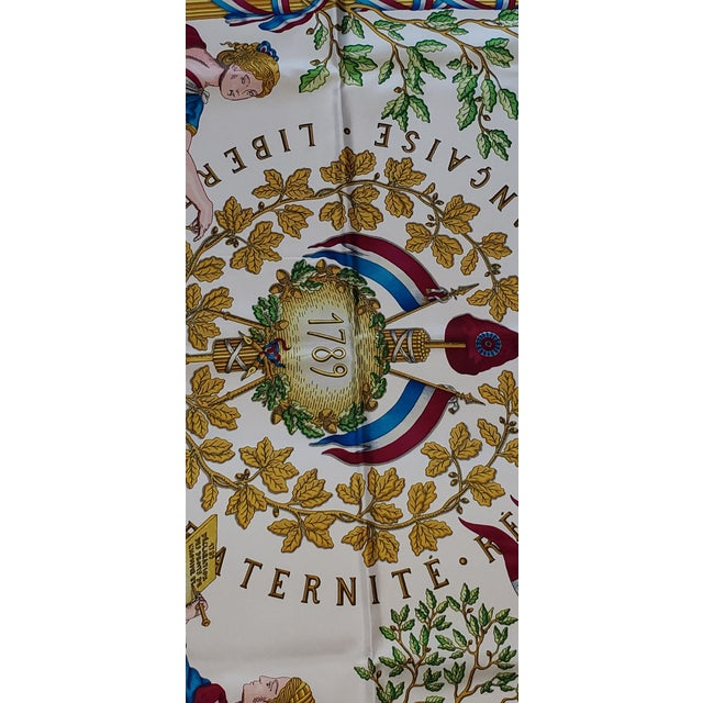 Late 20th Century 1990 Hermes Scarf With Box, Bag, Receipt, Care Card For Sale - Image 5 of 10