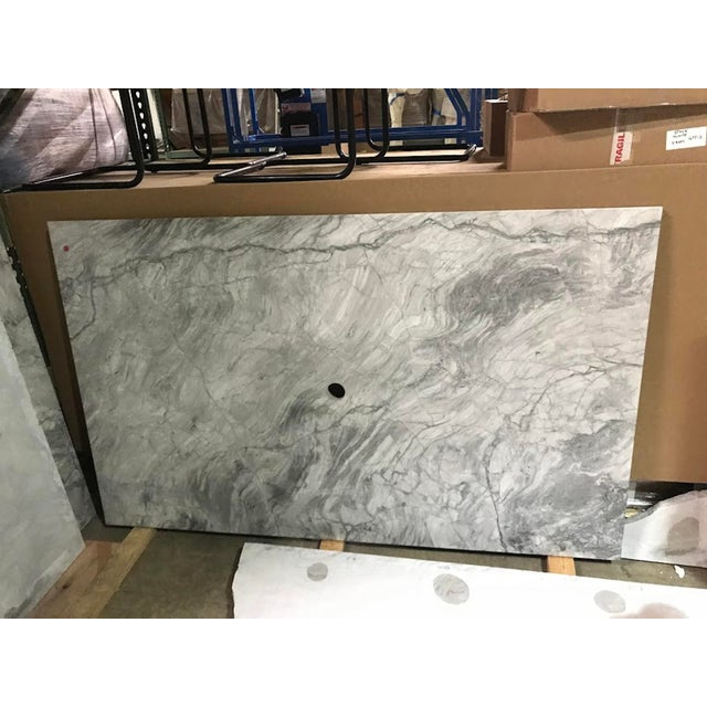 2010s Custom Carrera Marble Island or Counter Top For Sale - Image 5 of 9