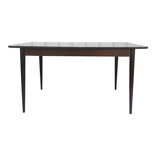 Mid-Century Dining Table With Leaf For Sale
