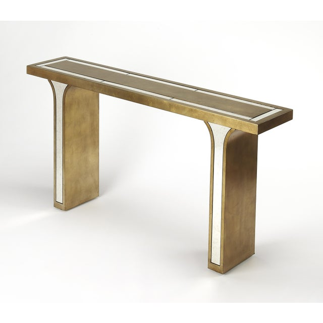 Butler Specialty Katya Silver Leaf Console Table - Image 3 of 3