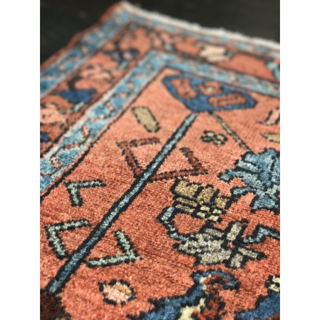 Vintage Mexican Zapotec Rug In Small Size With Stylized: Bellwether Rugs Antique Persian Malayer Mat Size Rug