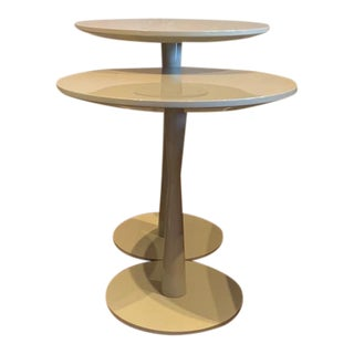 Contemporary Poliform Lacquer Nesting Tables - a Pair For Sale