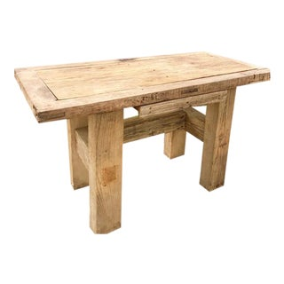 Mexican Rustic Hand Made Desk With Drawer For Sale