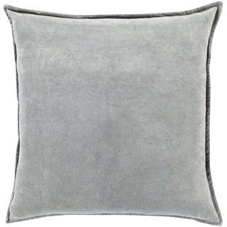 Contemporary Velvet Light Gray Pillow Cover For Sale