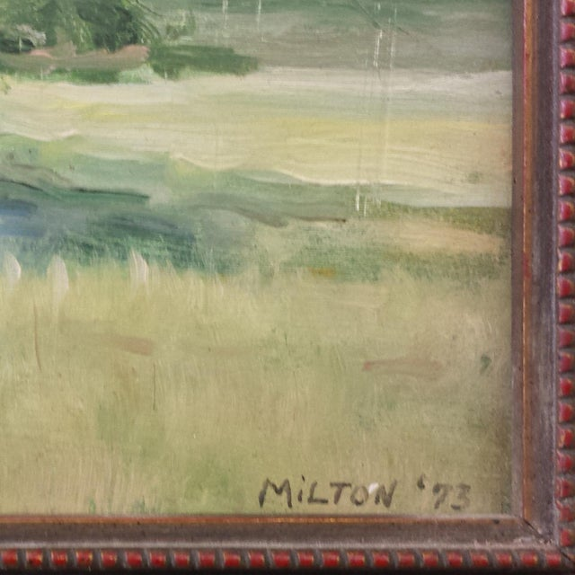 "Country 1970s Vintage ""Outer Banks"" Oil Painting by Kenneth Milton For Sale - Image 3 of 4"