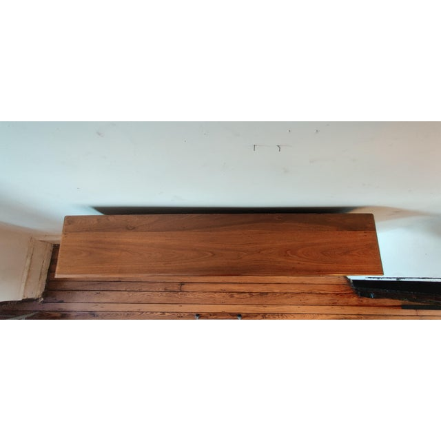 Victorian Walnut Classical Revival Fireplace Mantel For Sale - Image 4 of 8