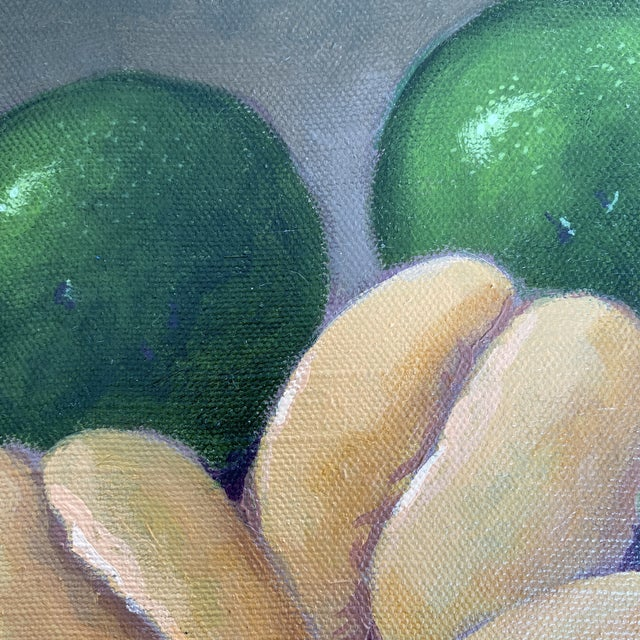 Green Avocado Still Life Painting, Framed For Sale - Image 8 of 9