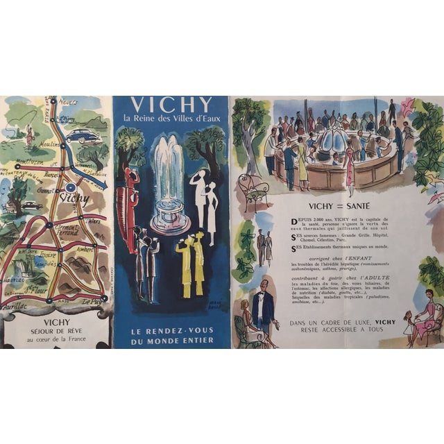 1940s french travel brochure for vichy france chairish
