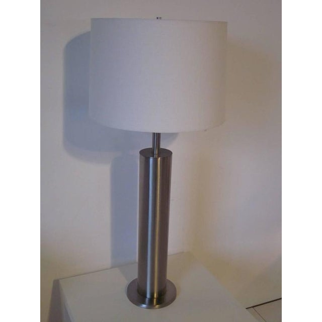 1950s Laurel Brushed Stainless Table Lamp For Sale - Image 5 of 5