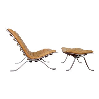 "Arne Norell ""Ari"" Lounge Chair & Ottoman For Sale"