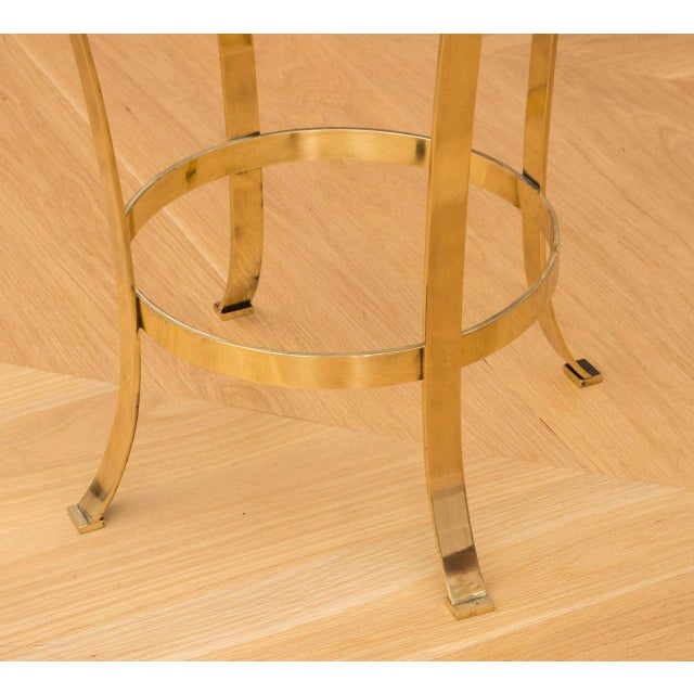 Modern Polished Brass Occasional Table For Sale - Image 3 of 7