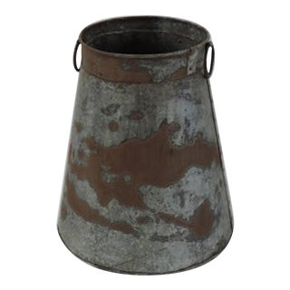 Indian Rustic Iron Container For Sale