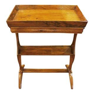 French Country Gallery Top Table For Sale