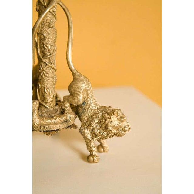 Pair Renaissance-Style Gilt Bronze Candlesticks - Image 8 of 10