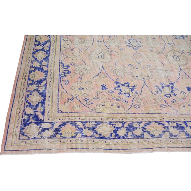 """1950s Vintage Turkish Hand Knotted Whitewash Organic Wool Fine Weave Rug,7'9""""x10'6"""" For Sale - Image 5 of 7"""