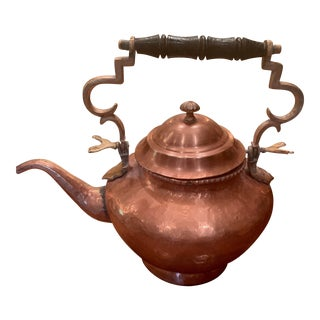Large Vintage Copper Pot With Handle For Sale
